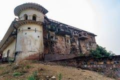 Ansicht des schönen alten Palastes in Indien stockfotografie