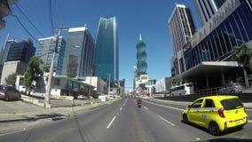 Ansicht des schönen Finanzbezirkes von Panama-Stadt, Panama stock footage