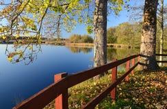 Ansicht des schönen Herbstes Lizenzfreies Stockfoto