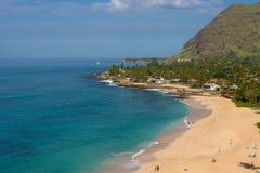 Ansicht des Schildkröten-Strandes auf der Nordwestküste von Oahu Lizenzfreie Stockfotos
