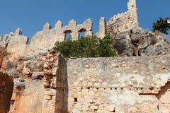 Ansicht des Schlosses in Kalekoy, Kekova. lizenzfreie stockbilder