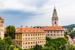 Ansicht des Schlosses in Krumlov-tschechischer Republik Cesky Lizenzfreie Stockbilder