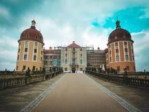 Ansicht des Schlosses Morizburg in Deutschland Stockbilder