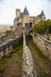 Ansicht des Schlosses von Hotel De La Cite, Carcassonne, Frankreich Lizenzfreie Stockfotos