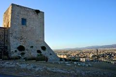 Ansicht des Schlosses von San Michele in Cagliari stockbilder