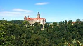Ansicht des Schlosses Zamek Ksiaz stock video