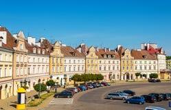 Ansicht des Schlossquadrats in Lublin Stockfotos