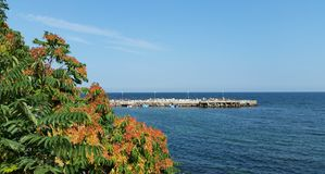 Ansicht des Schwarzen Meers von Nessebar Lizenzfreie Stockbilder