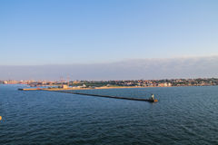 Ansicht des Seehafens lizenzfreies stockfoto