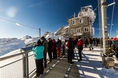 Ansicht des Skiorts Jungfrau Wengen in der Schweiz Stockbild