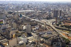 Ansicht des Skylinestadtzentrums von Sao Paulo-Stadt lizenzfreies stockfoto