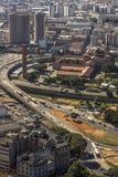 Ansicht des Skylinestadtzentrums von Sao Paulo-Stadt lizenzfreie stockfotos