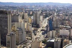 Ansicht des Skylinestadtzentrums von Sao Paulo-Stadt lizenzfreie stockbilder