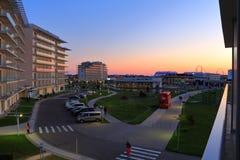 Ansicht des Sochi-Hotel-Parks vom Balkon Russland Stockfotografie