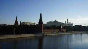 Ansicht des Sommermorgens Moskaus der Kreml, timelaps stock video footage