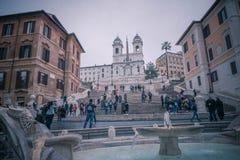 Ansicht des spanischen Quadrats in Rom Stockfotografie