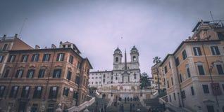 Ansicht des spanischen Quadrats in Rom Stockbilder
