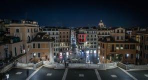 Ansicht des spanischen Quadrats in Rom Lizenzfreies Stockfoto