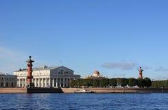 Ansicht des Spuckens von Vasilyevsky Insel Stockbild