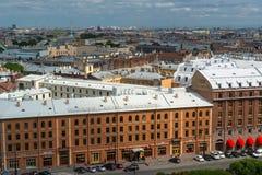 Ansicht des St. Petersbourg von Kathedrale St. Isaacs, Russland Stockfotos