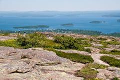 Ansicht des Stab-Hafens Maine USA Lizenzfreie Stockfotografie
