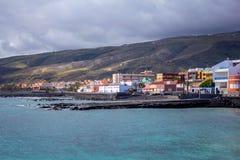 Ansicht des Stadt EL Medano, Teneriffa-Insel, Spanien stockfotos