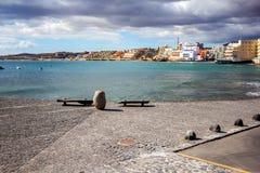 Ansicht des Stadt EL Medano, Teneriffa-Insel, Spanien lizenzfreies stockfoto
