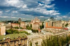 Ansicht des Stadtzentrums Stockfotos