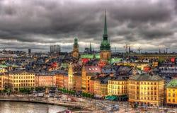 Ansicht des Stockholm-Stadtzentrums, Schweden Lizenzfreie Stockbilder