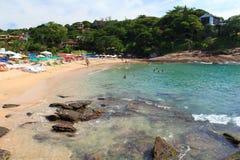 Ansicht des Strandes Ferradurinha nahe Rio de Janeiro, Brasilien Stockfotos