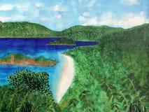 Ansicht des Strandes in Johannes, US Virgin Islands Lizenzfreies Stockfoto