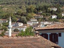 Ansicht des türkischen Dorfs von Sirince Stockfotos