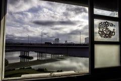 Ansicht des Taipeh-Flussparks Lizenzfreies Stockfoto