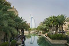 Ansicht des Teils Madinat Jumeirah Dubai Stockfotos