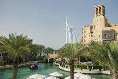 Ansicht des Teils Madinat Jumeirah Dubai Stockbilder