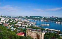 Ansicht des Teils von Wladiwostok Russland 13 06 2015 Stockfotografie