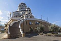Ansicht des Tempel Heiligen Antlitzes von Christus der Retter in der Regelung Adler ein Frühsommermorgen Stockbilder