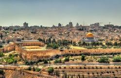 Ansicht des Tempelbergs in Jerusalem Stockfotos