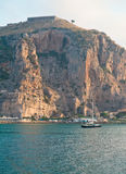 Ansicht des Terracina Kanals, Italien morgens Lizenzfreie Stockbilder