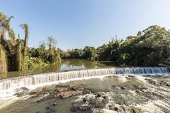 Ansicht des Timbo-Stadtwasserfalls, Santa Catarina Stockbild