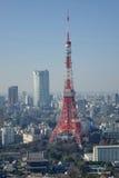 Ansicht des Tokyo-Stadt-Turms Stockfotos