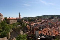 Ansicht des tschechischen Krumlov Lizenzfreies Stockbild