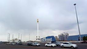 Ansicht des Unabhängigkeits-Quadrats in Astana lizenzfreies stockbild