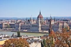 Ansicht des ungarischen Parlaments lizenzfreie stockfotos