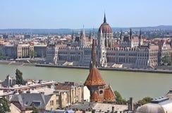 Ansicht des ungarischen Parlaments stockbild