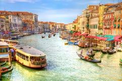 Ansicht des Venedig-großartigen Kanals Lizenzfreies Stockbild