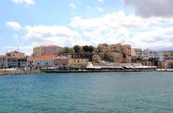 Ansicht des venetianischen Hafens von Chania Kreta, Griechenland Stockbilder