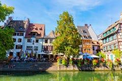 Ansicht des Viertella Petite France in Straßburg, Frankreich stockbild