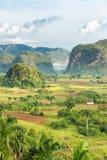 Ansicht des Vinales-Tales in Kuba auf dem frühen MO Lizenzfreies Stockbild