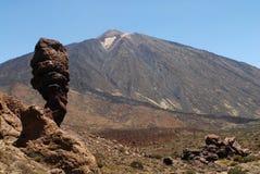Ansicht des Vulkan EL Teide Stockfotografie